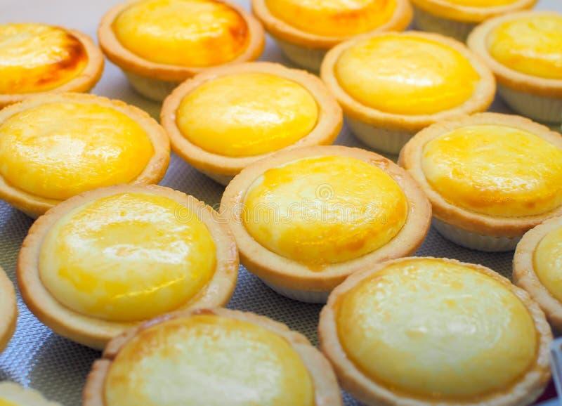 Flan doux de tartes japonaises d'oeufs de dessert images stock