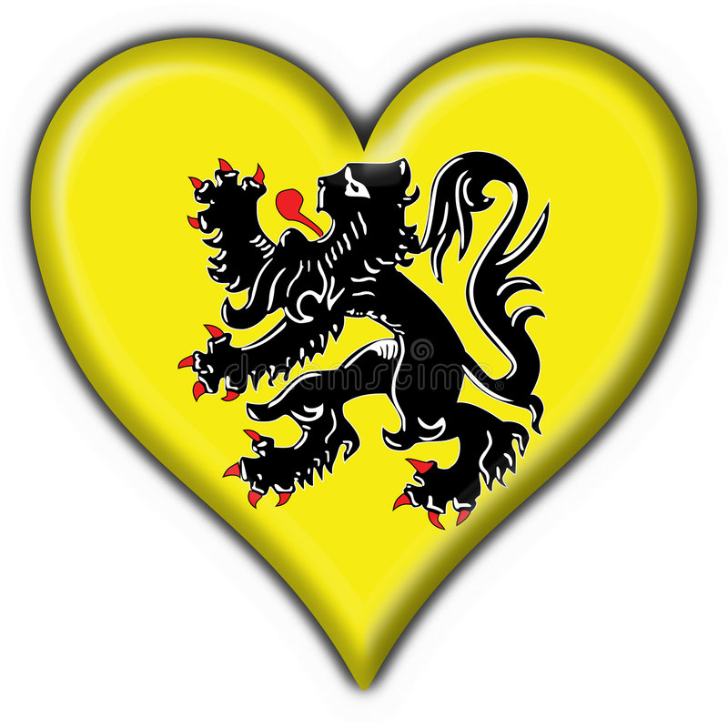 Free Flanders Button Flag Heart Shape Stock Photos - 4924623
