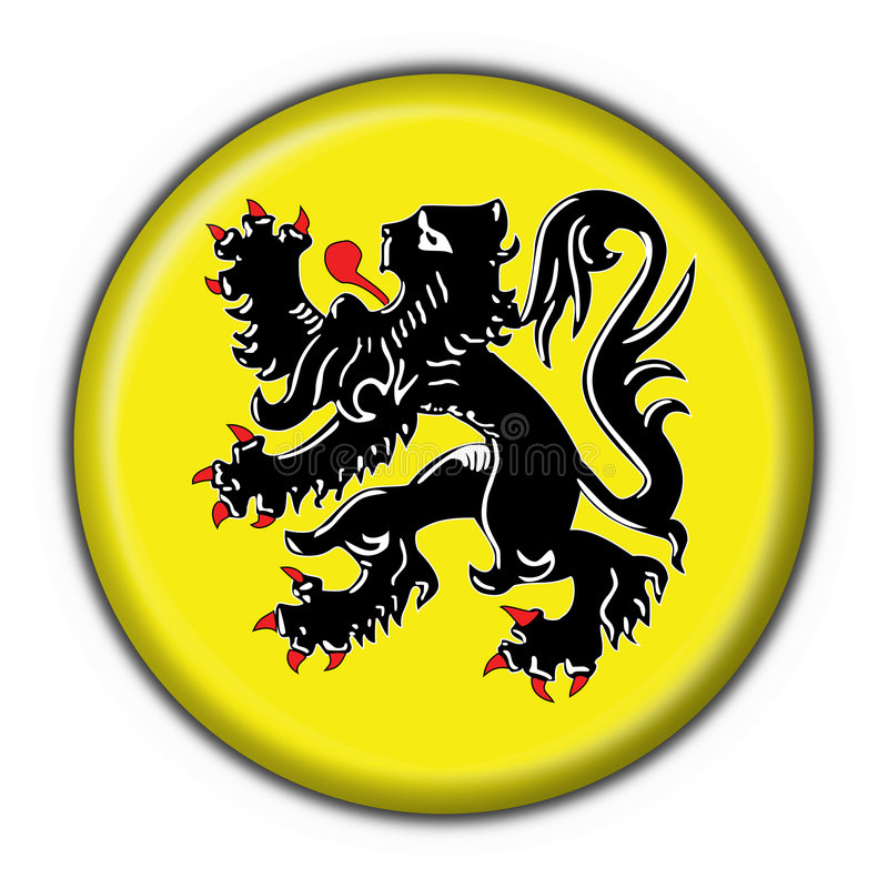 Free Flanders Button Flag Round Shape Stock Images - 4924614