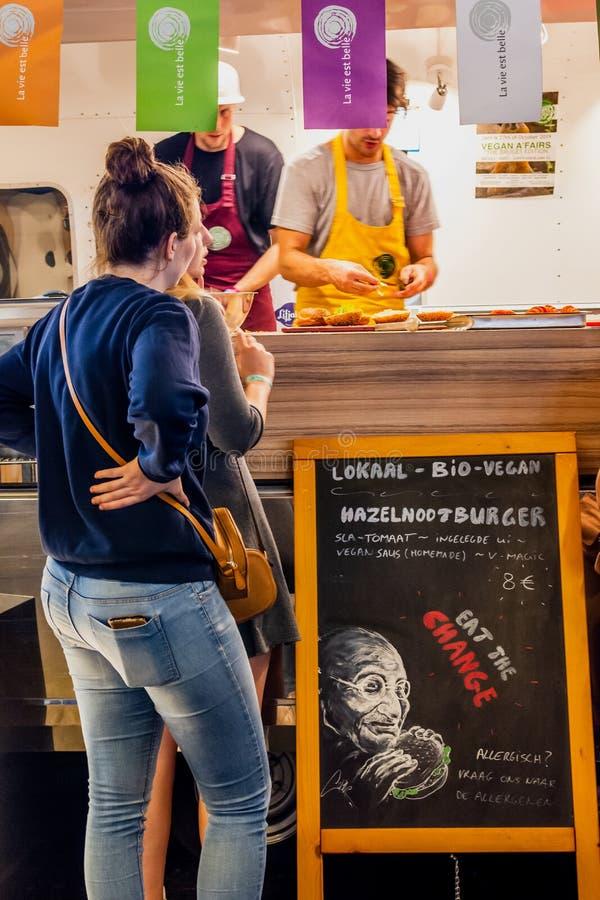 Flanders Expo, Gent Ghent, Belgio, 17 agosto 2019: quinta edizione del festival estivo vegano originale e più grande del Belgio immagine stock