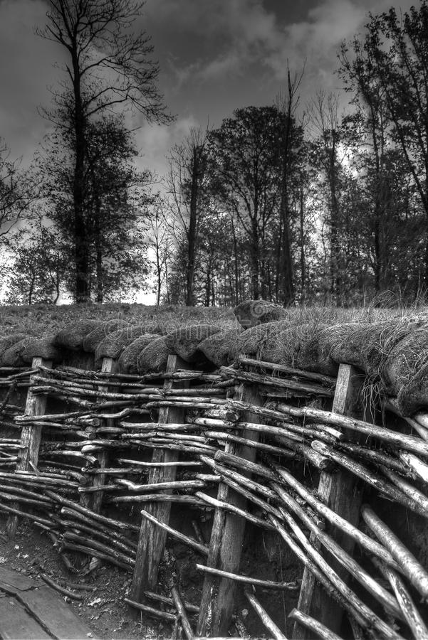 World War I Trenches, Flanders Fields royalty free stock image