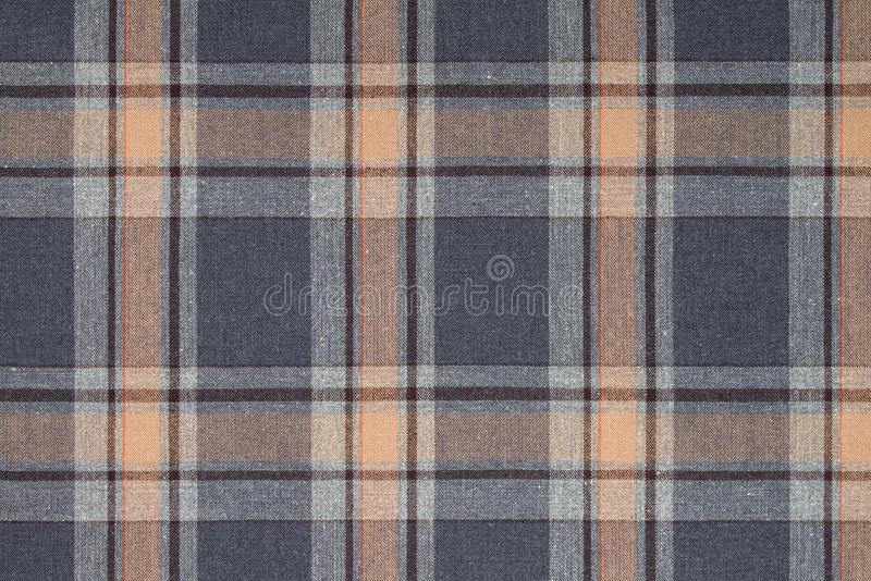 Flanela, bawełna w klasyczną szkocką komórkę jako tekstylny tło obraz royalty free
