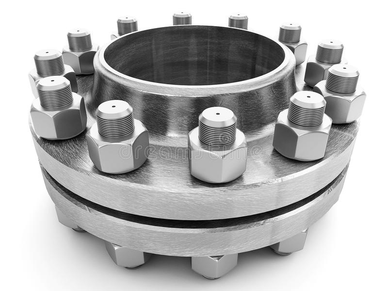 Flanges & Bolts Stock Photos