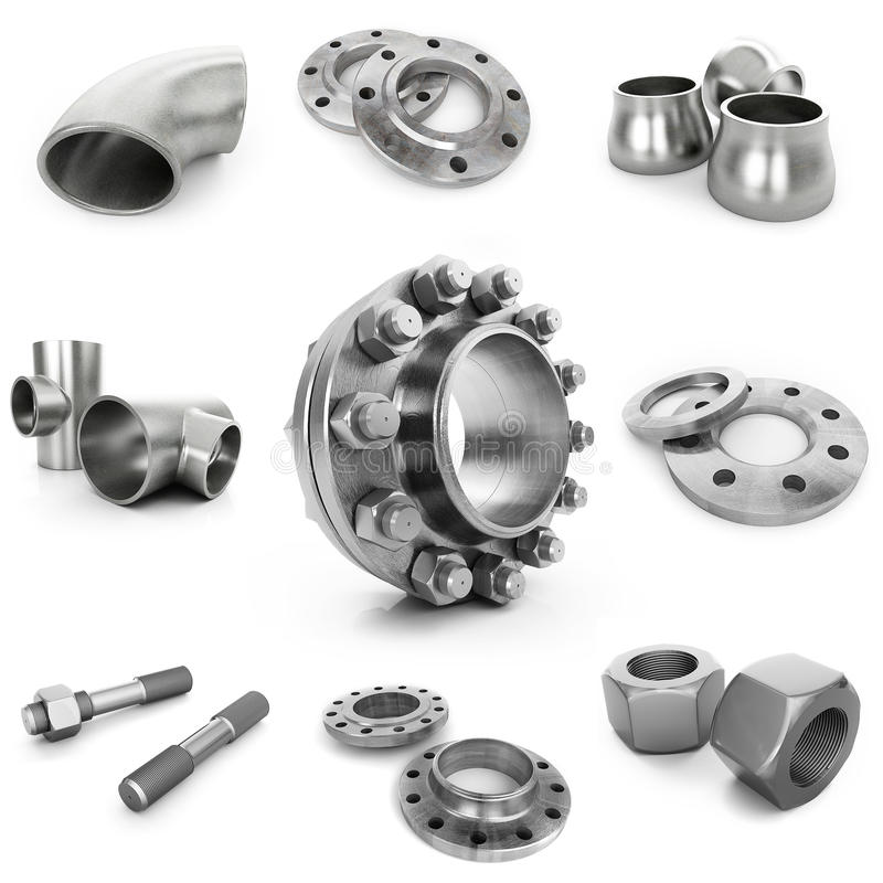 Flanges, pipe royalty free stock photo