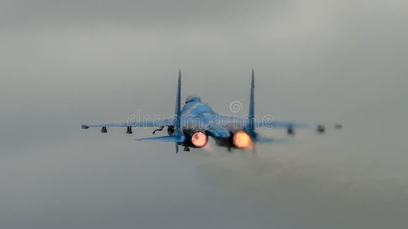 Flanker Su-27 foto de archivo