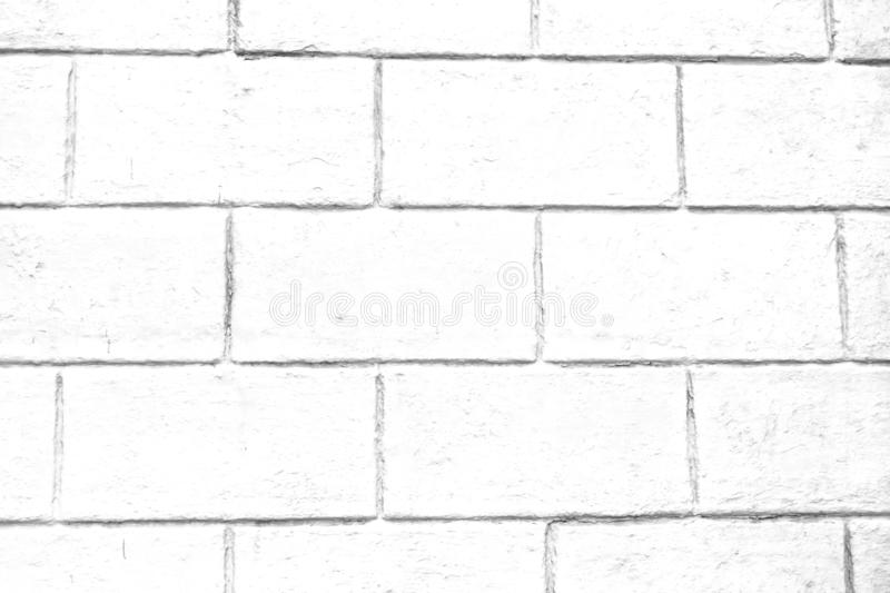 The flap of the house is made of white brick. Background stock image
