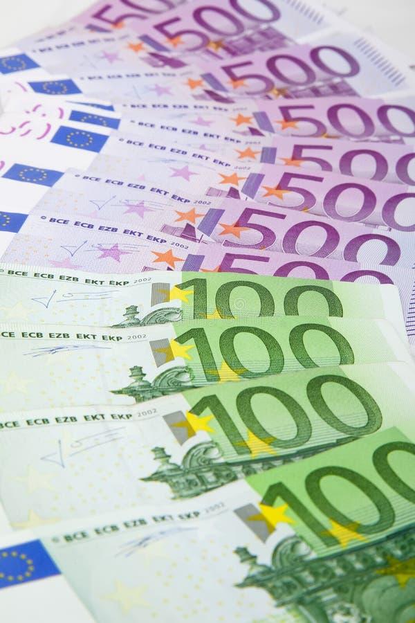 Flapper de euro- notas de banco imagem de stock