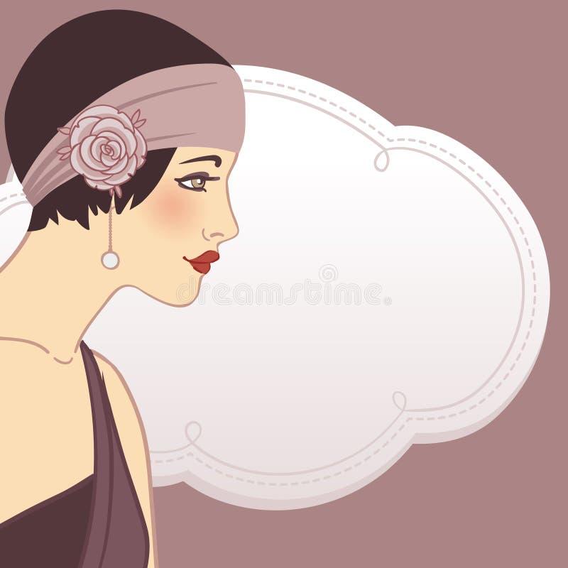 Flapper girls set stock illustration