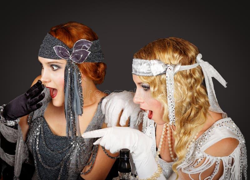 Flapper girls stock photos