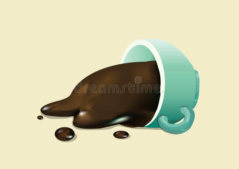 Flaque de café illustration libre de droits