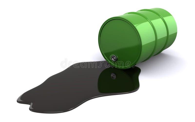 Flaque de pétrole illustration de vecteur