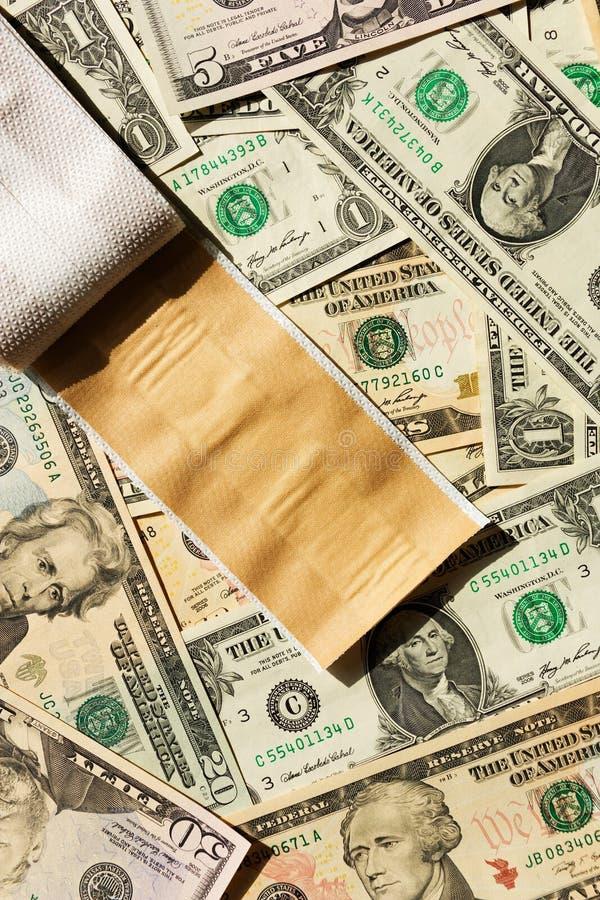 Flard en dollars royalty-vrije stock afbeelding