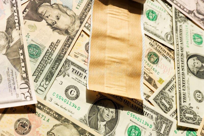 Flard en dollars stock afbeelding