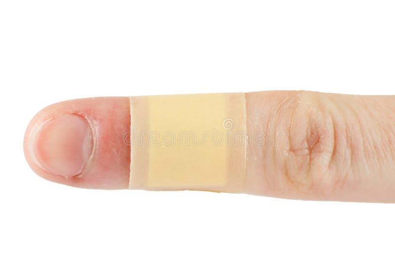 Flard op een vinger royalty-vrije stock afbeelding