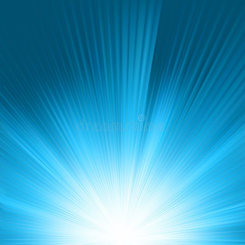 Flare in blue sky. EPS 8