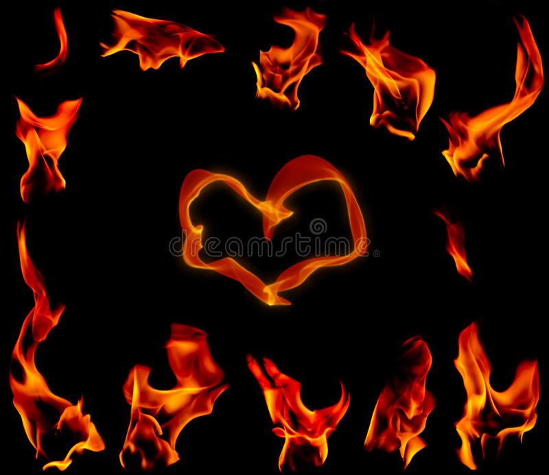 Download Flare Fire On A Black Background Stock Photo - Image: 23225942