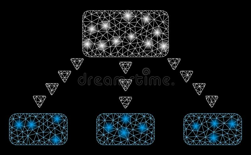 Flare Mesh 2D Dotted Scheme met Flare Spots royalty-vrije illustratie