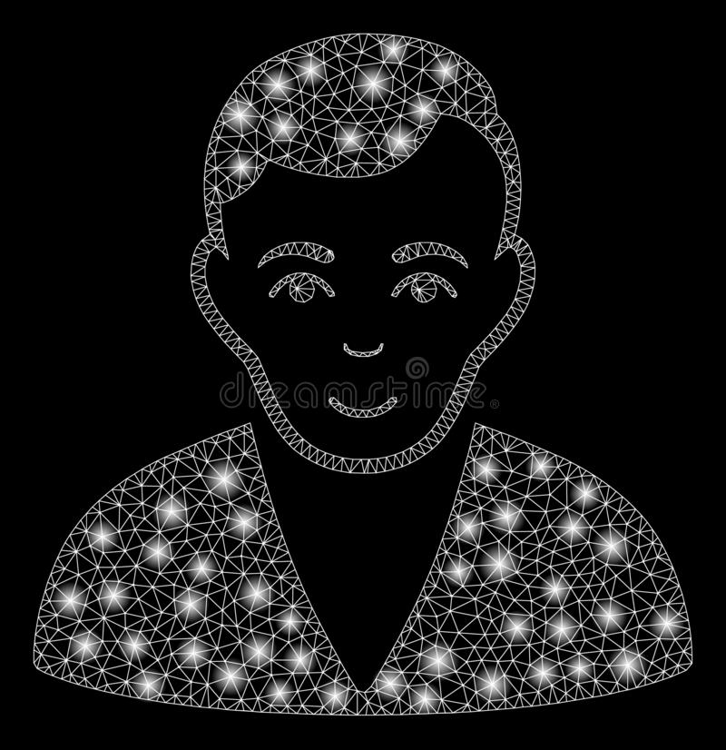 Flare Mesh 2D Man with Flare Spots vector illustration