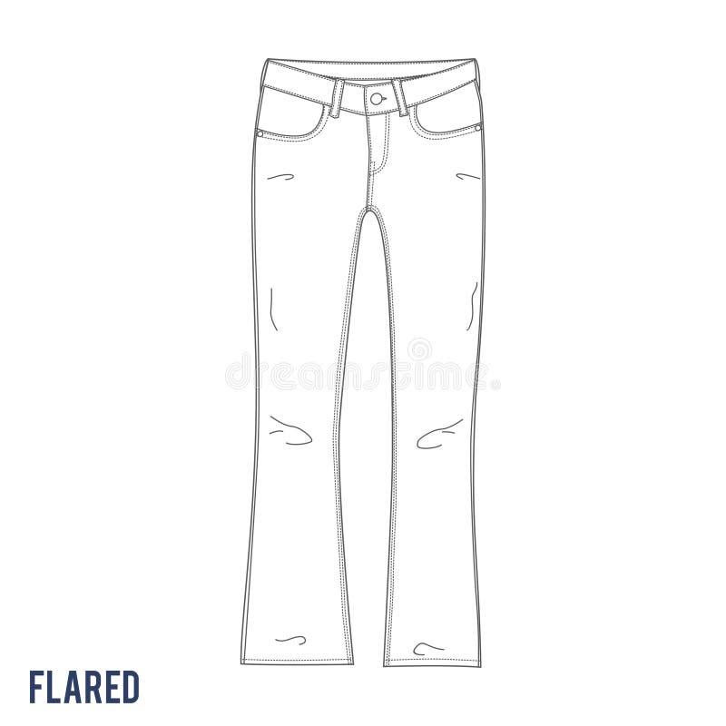 Flared джинсы стоковое изображение