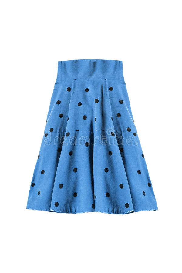 Flared skirt isolated stock images