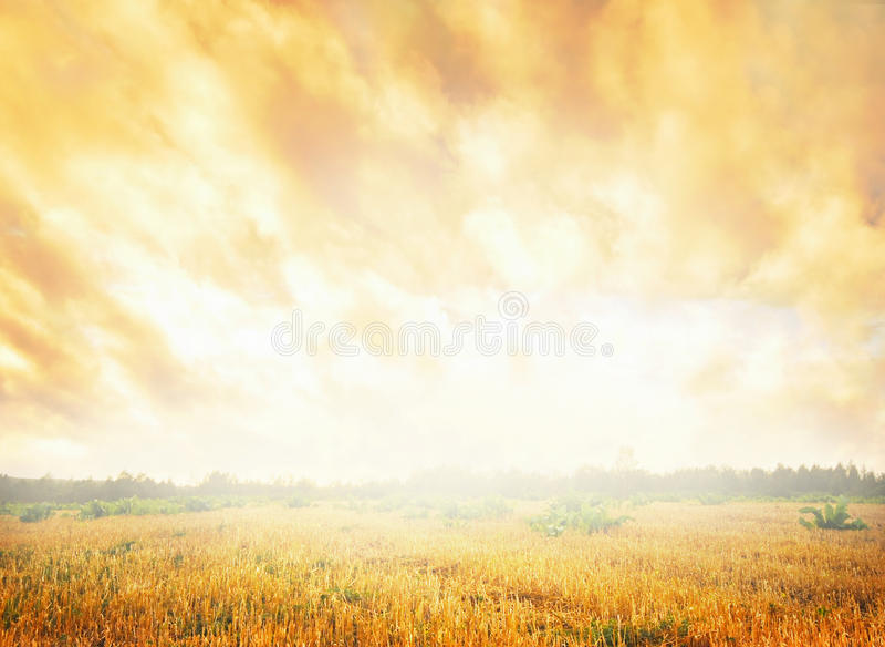 flaring небо стоковая фотография