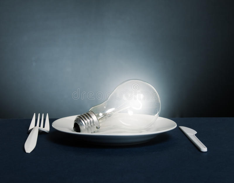 Flaring Electric Lamp Stock Image