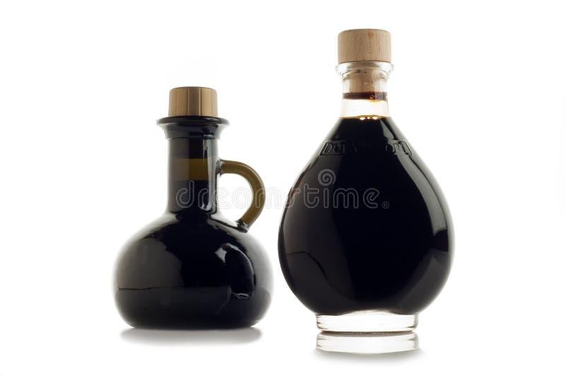 Flasche balsamischer Essig stockfotos