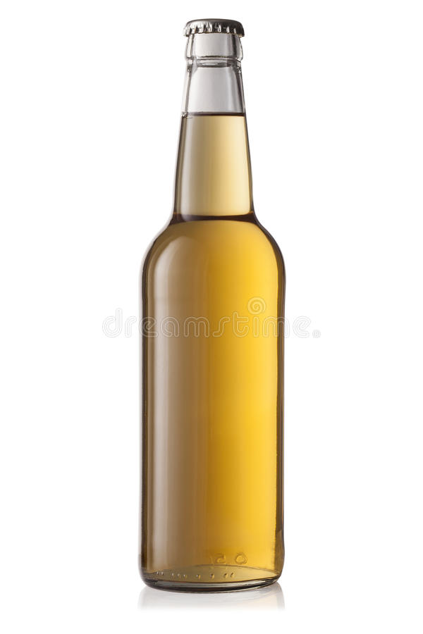 Flasche Bier auf weißem Hintergrund lizenzfreies stockfoto