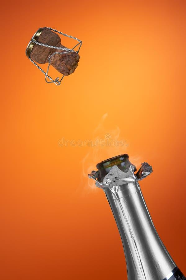 Flasche Champagner stockbild