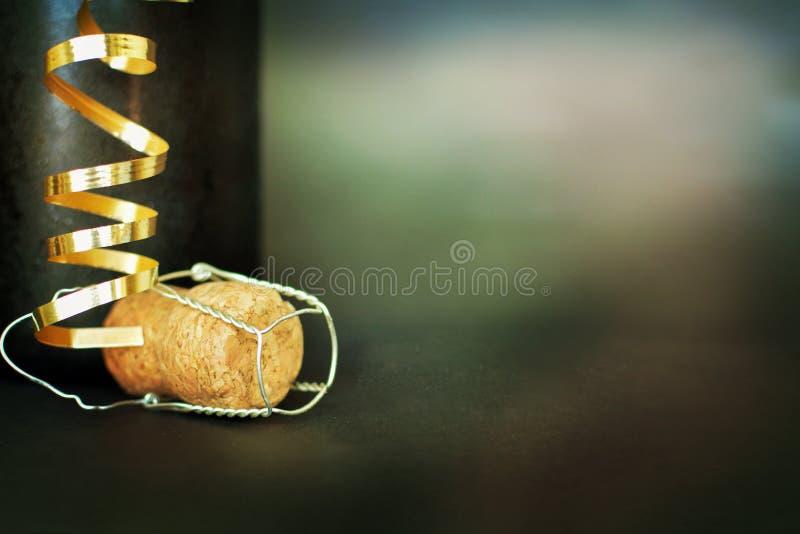Flasche Champagner Glückliches neues Jahr stockfotos