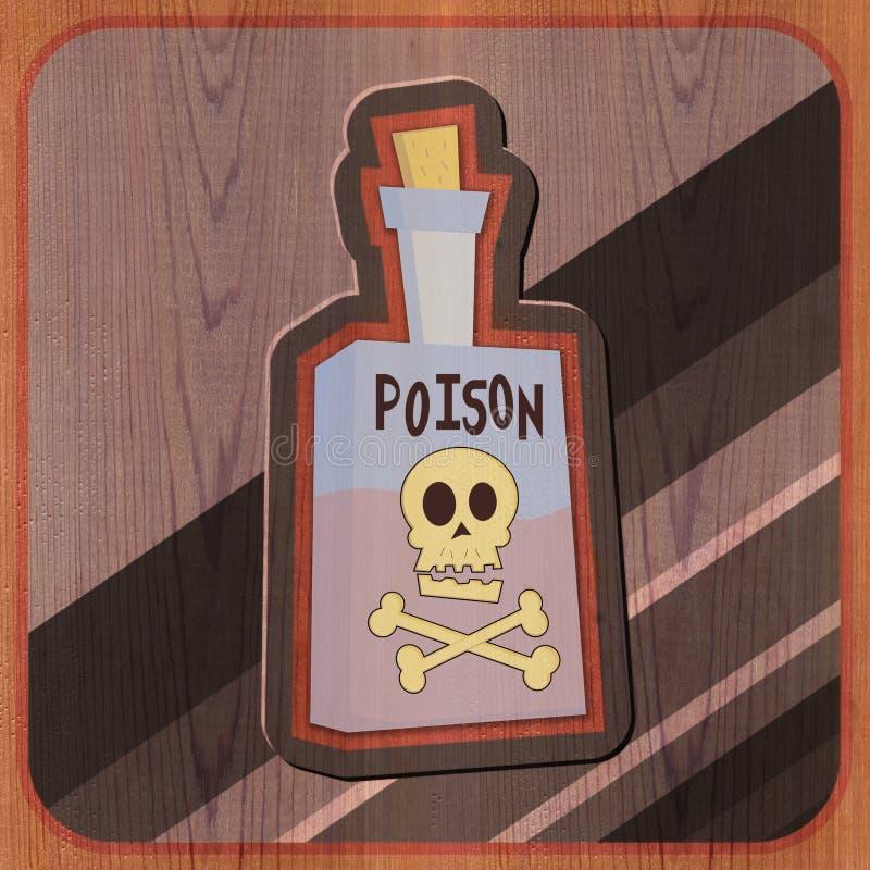 Flasche der Gift-Abbildung stock abbildung