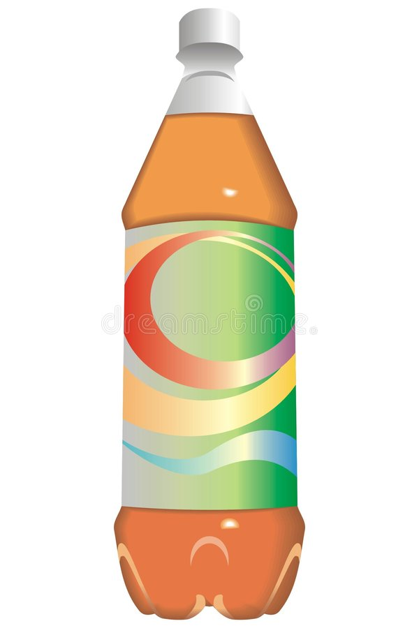 Flasche des Safts oder des alkoholfreien Getränkes lizenzfreie abbildung