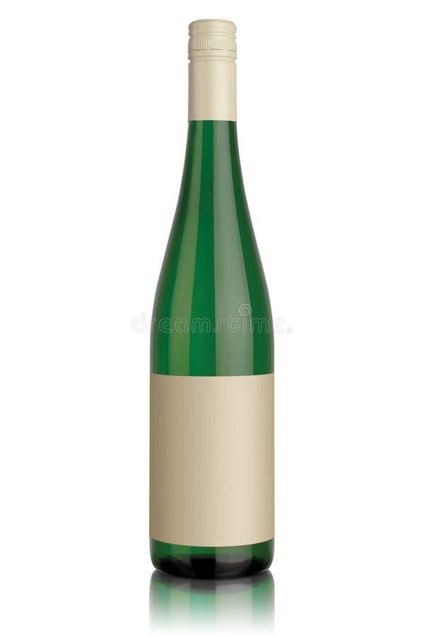 Flasche des weißen Weins lizenzfreies stockfoto