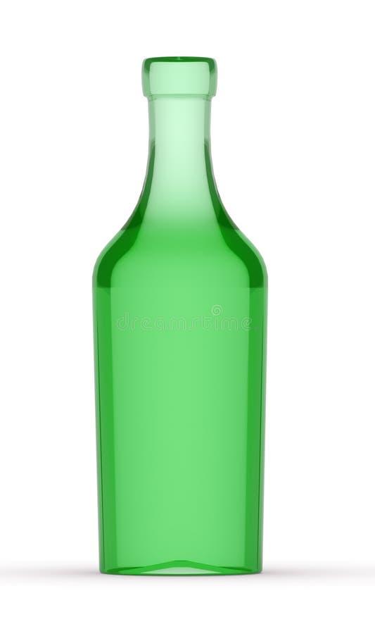 Flasche des Weins 3D vektor abbildung