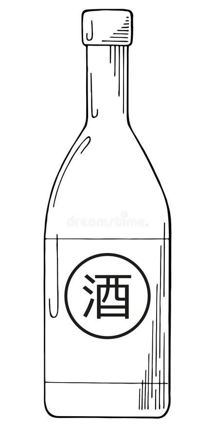 Flasche Grund lokalisiert auf weißem Hintergrund vektor abbildung