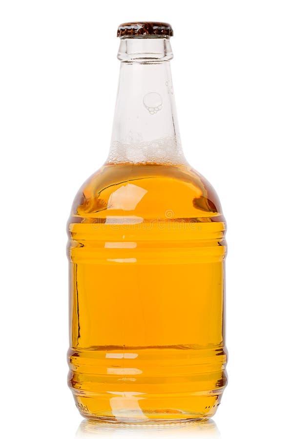 Flasche helles Bier lizenzfreie stockbilder