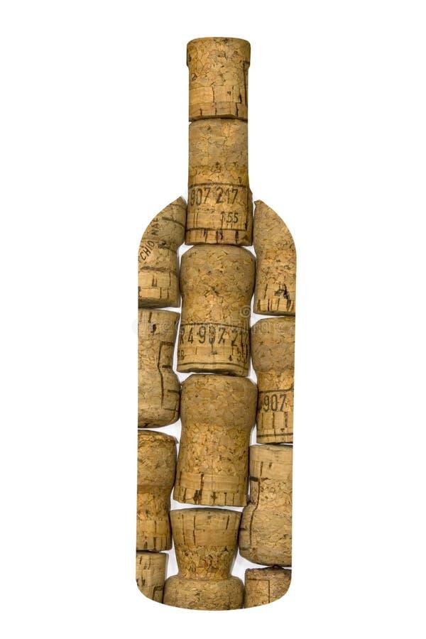 Flasche hergestellt durch Korken stockbilder
