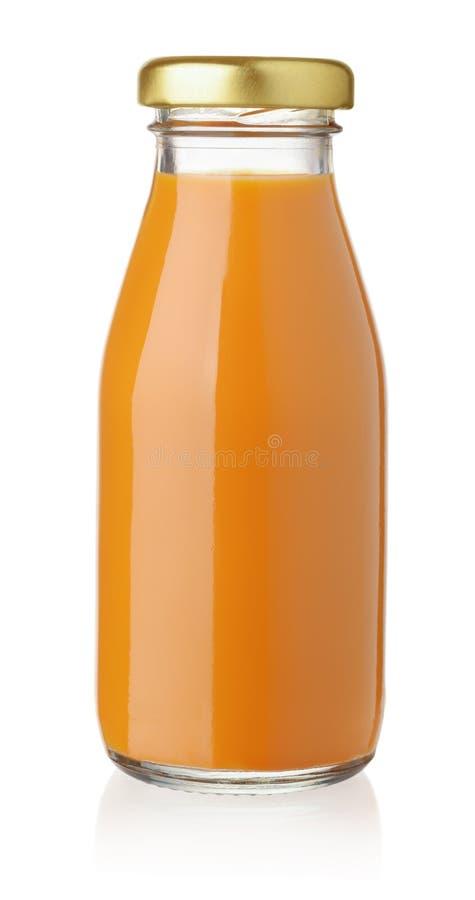 Flasche Karottensaft lizenzfreie stockfotografie