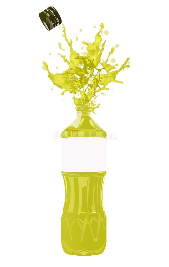 Flasche Schmierölolive lizenzfreie abbildung