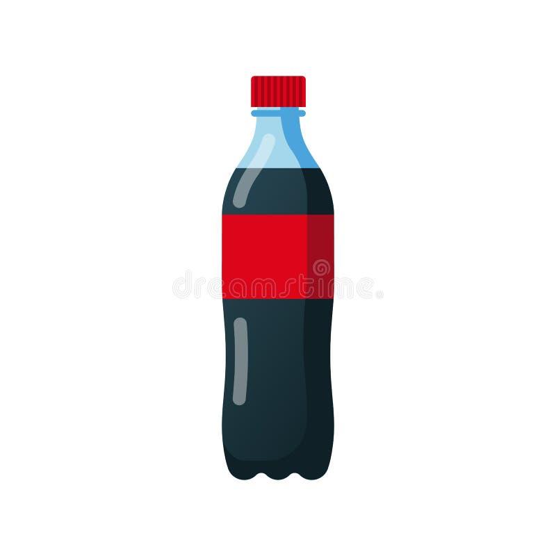 Flasche Soda Kolabaum im Plastik-tarre vektor abbildung