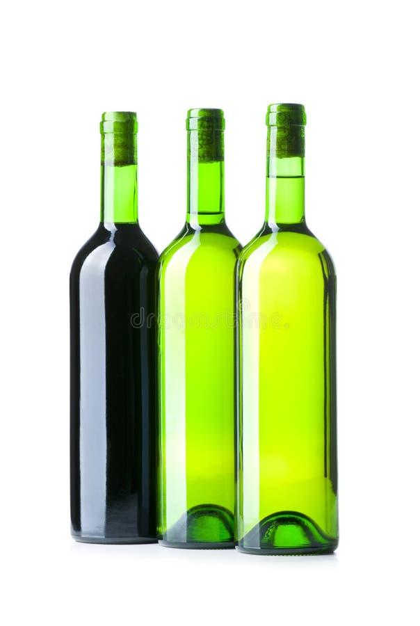Flasche und Glas getrennt stockfotos