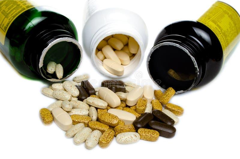 Flasche 3 Vitamine lizenzfreies stockfoto