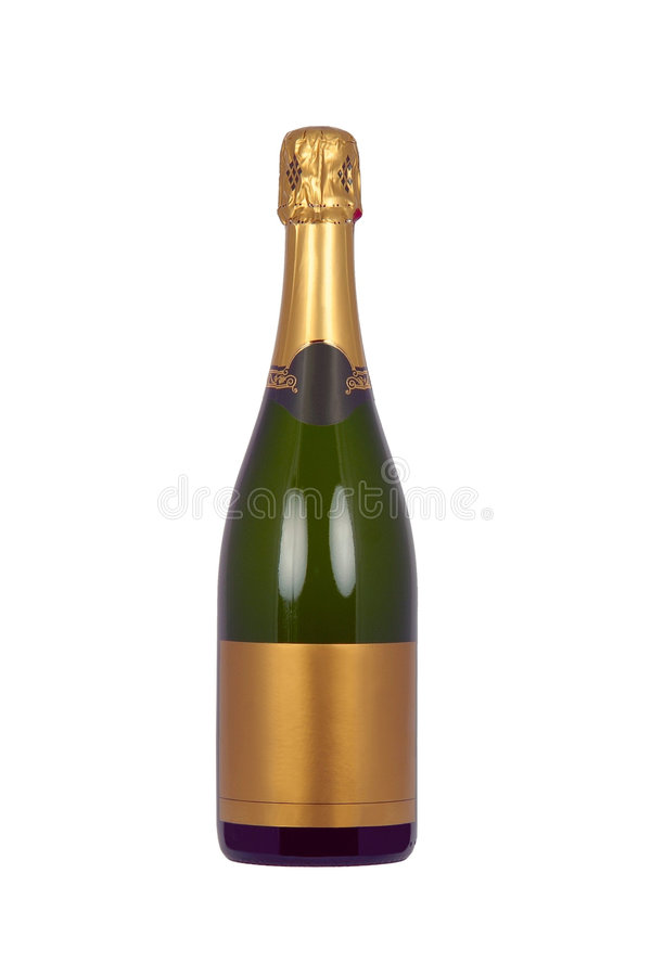 Flasche von Champagne lizenzfreies stockbild