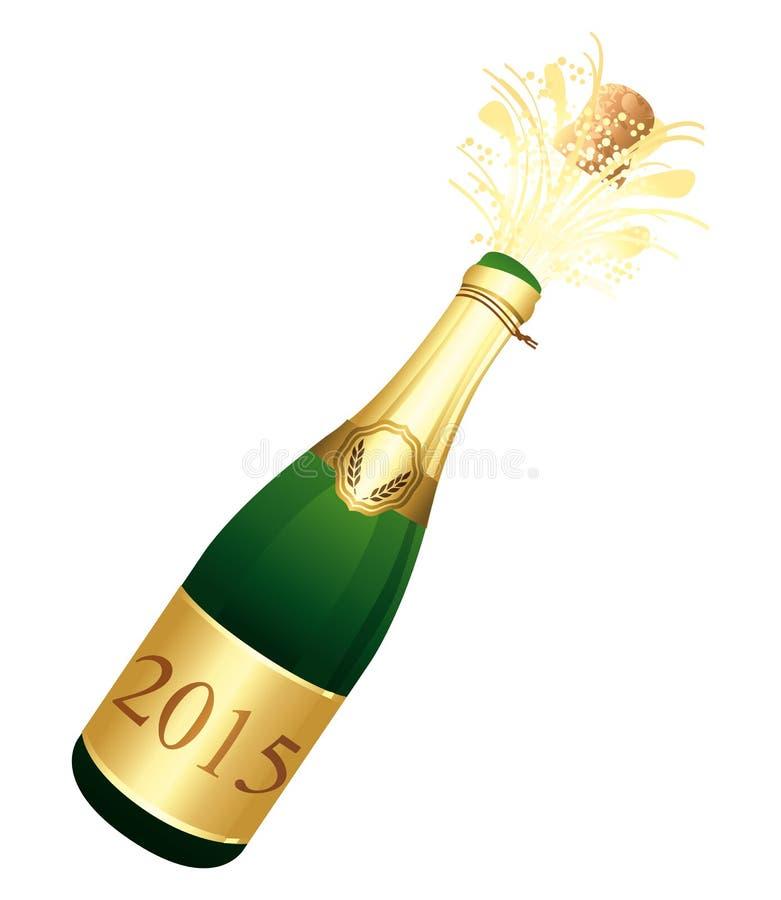 Flasche 2015 von Champagne stock abbildung