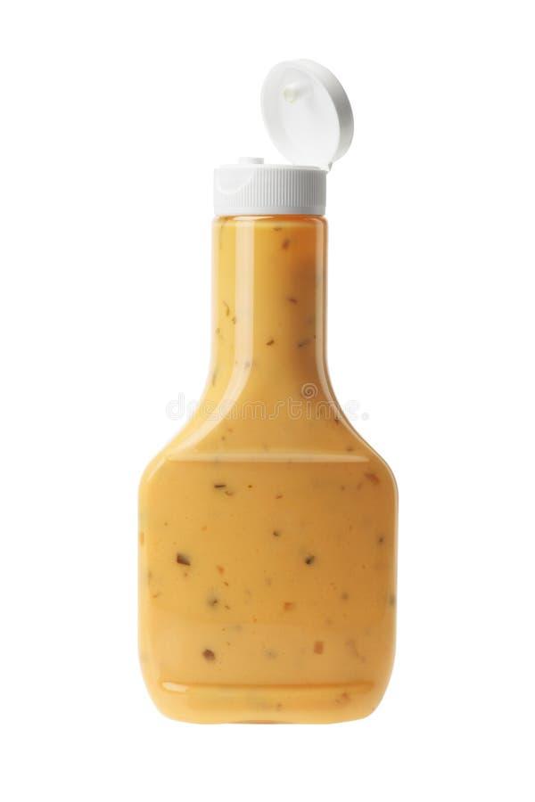 Flasche von tausend Insel-Salatsoße lizenzfreies stockfoto