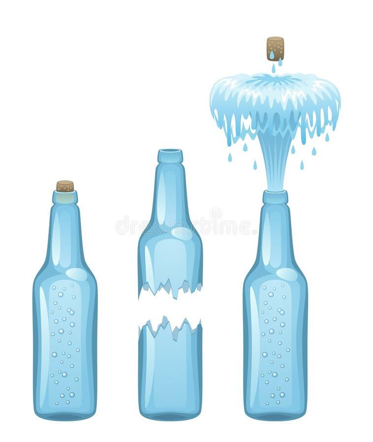 Flasche Wasser lizenzfreie abbildung