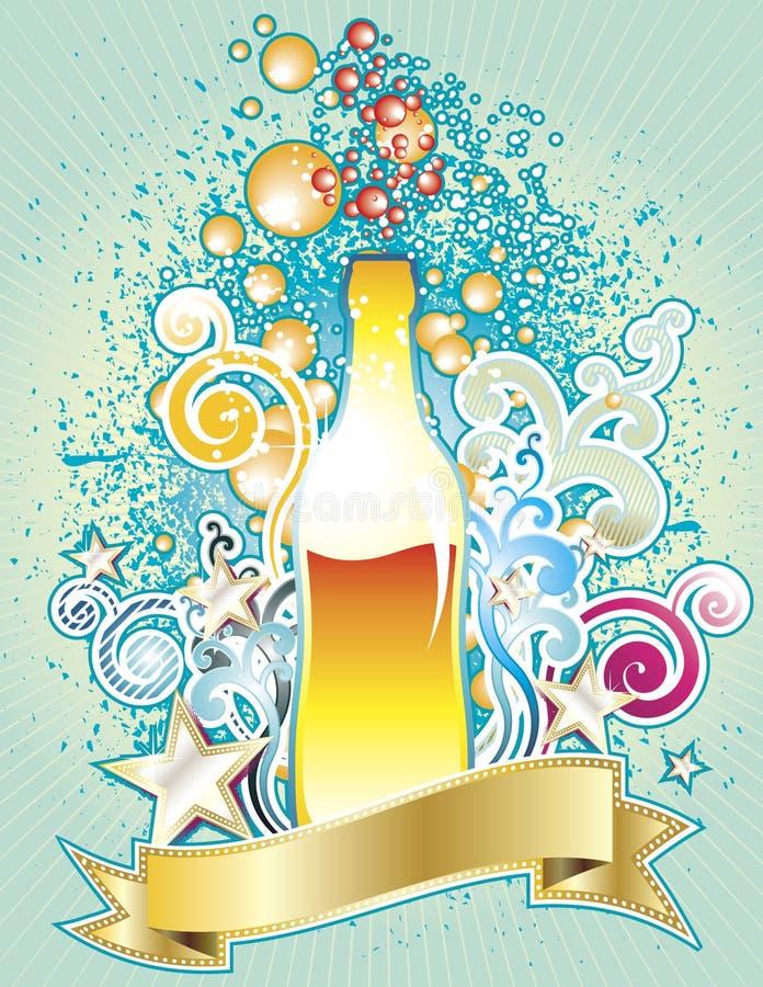 Flaschen-Auslegung stock abbildung