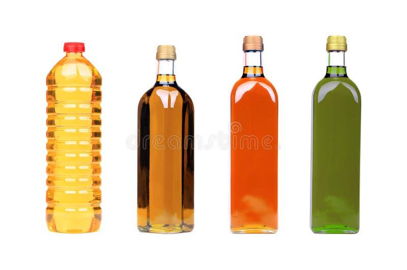 Flaschen des kochenden Schmieröls lizenzfreie stockfotos