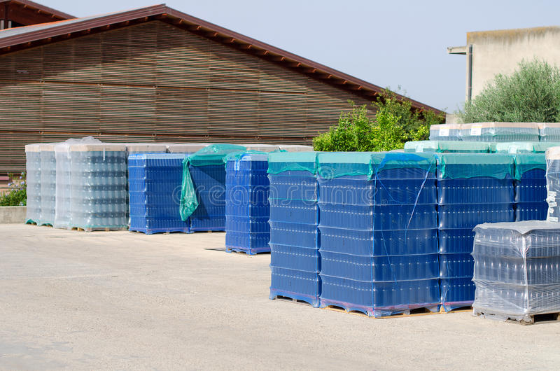 Flaschen für die Weinherstellung stockfoto