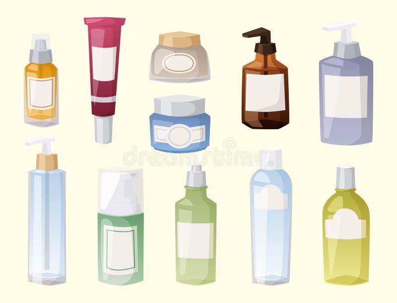 Flaschen kosmetisches Cosmetologylotionsmake-up vektor abbildung